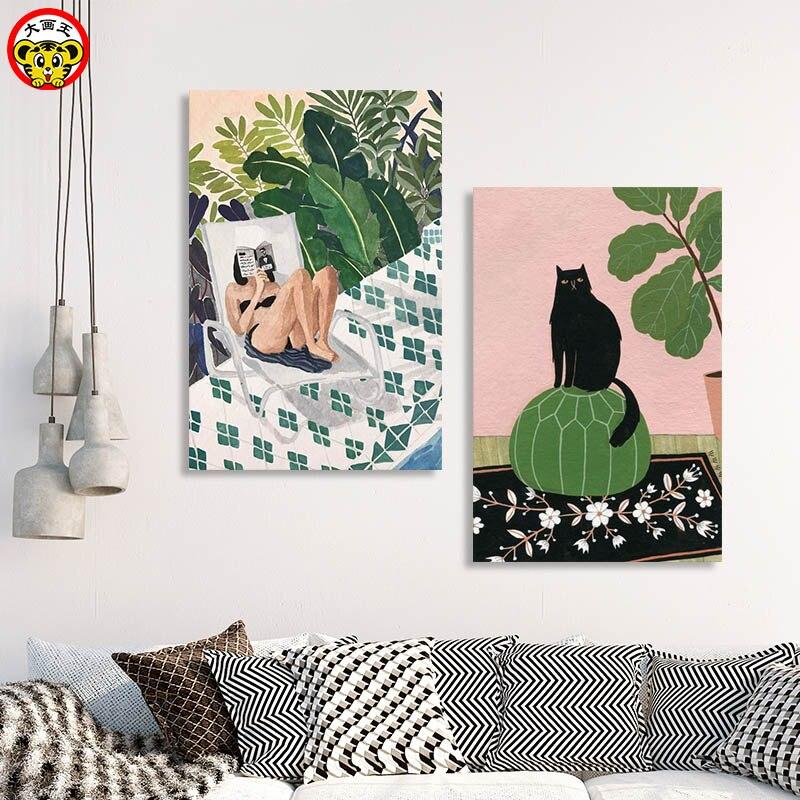 Pintura por números arte pintura por número grande foto rey de carácter planta flor moderno fresca pequeña habitación sobresalen por