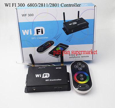 Wi-fi 300 LPD6803 WS2811 WS2801 Tela Touchable Controle Remoto LED Controlador Tira CONDUZIDA