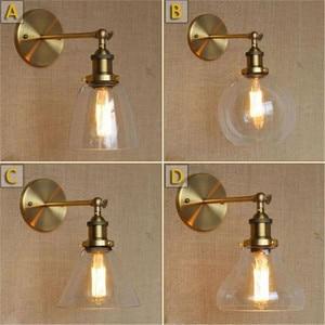 Retro  Industrial Bronze Vintage Wall Lamp Light Wall Sconce Adjustable Handle Metal Rustic Light Sconce Light Fixtures