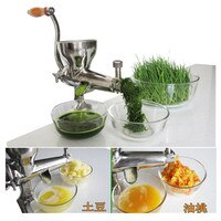 Stainless steel manual pear apple lemon orange juicer extractor hand celery cabbage pine needle aloe juicer machine ZF