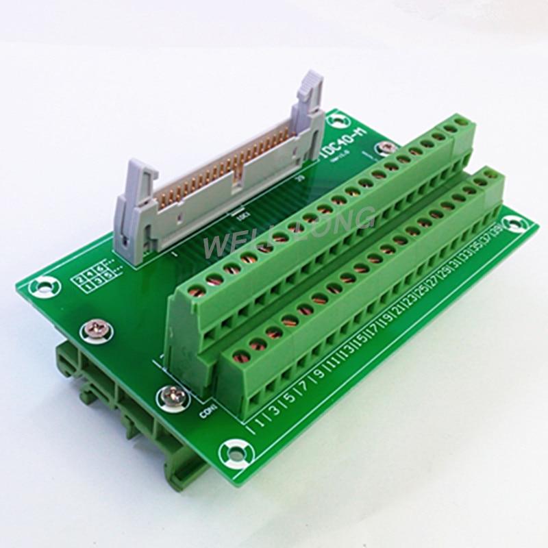 """IDC40 2x20 pines 0,1 """"tablero de ruptura de cabecera macho, bloque de terminales, conector."""