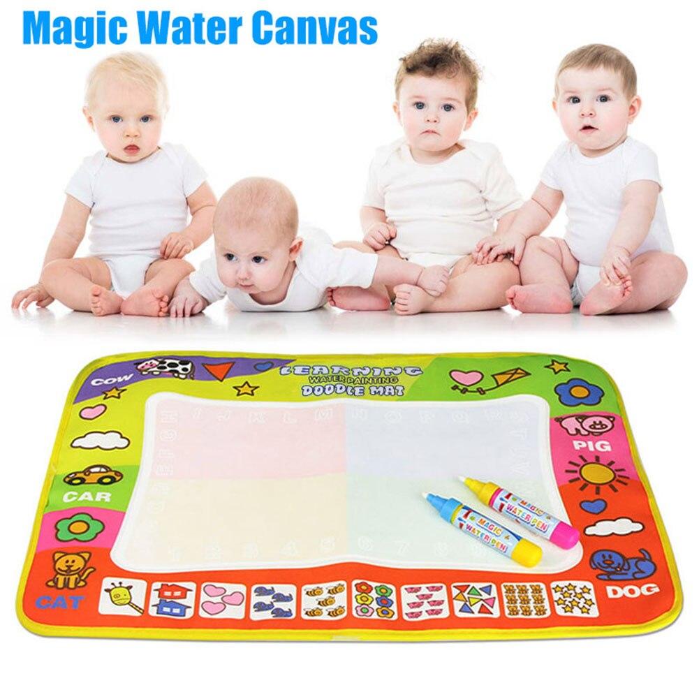 Alfombra para niños, alfombra para juegos, tapete para garabatos, tablero de agua, pintura de agua, dibujo, escritura grande, juguete mágico, Dropshipping