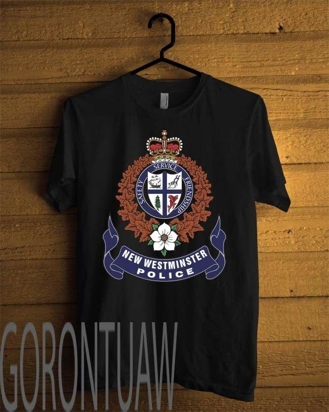 2019 divertido y nuevo Departamento de Policía de Westminster camiseta negra camiseta Unisex personalizada