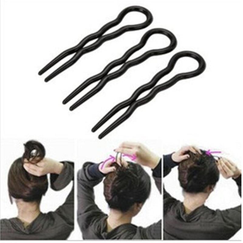 3Pcs/Set Hot Sale Hair Twist Styling Clip Stick Bun Maker Braid Tool Hair Accessories Wholesale