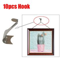 10pcs S Shape Moulding Hooks Picture Photo Painting Rail Hanging Frames Wall Clock Mirror Gadgets Hangers Artwork Room Decor