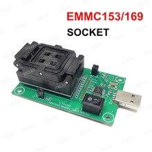 EMMC153/169 Presa di Prova USB Lettore di IC formato 11.5x13mm NAND Flash di Prova per il Recupero Dei Dati