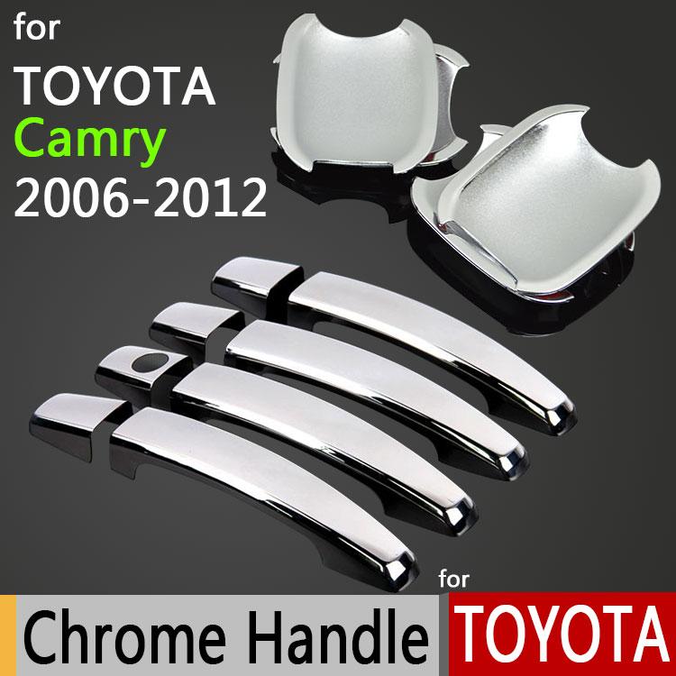Para Toyota Camry 2006-2011 Luxuoso Chrome Door Handle Covers Acessórios Adesivos de Carro Carro Styling 2007 2008 2009 2010 Aurion XV40