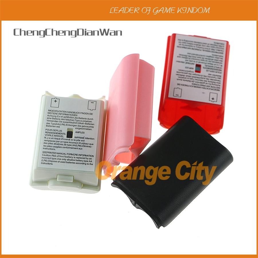 ChengChengDianWan 60 pçs/lote 4 cores Bateria Capa Caso Shell Kit tampa da bateria para Xbox360 Wireless Controller