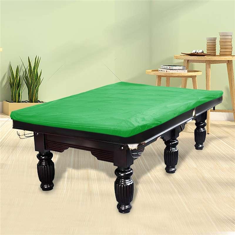Rojo/gris/marrón/negro/Verde fibra de poliéster a prueba de polvo billar cubierta protectora mantel de mesa para mesa de billar de 9 pies