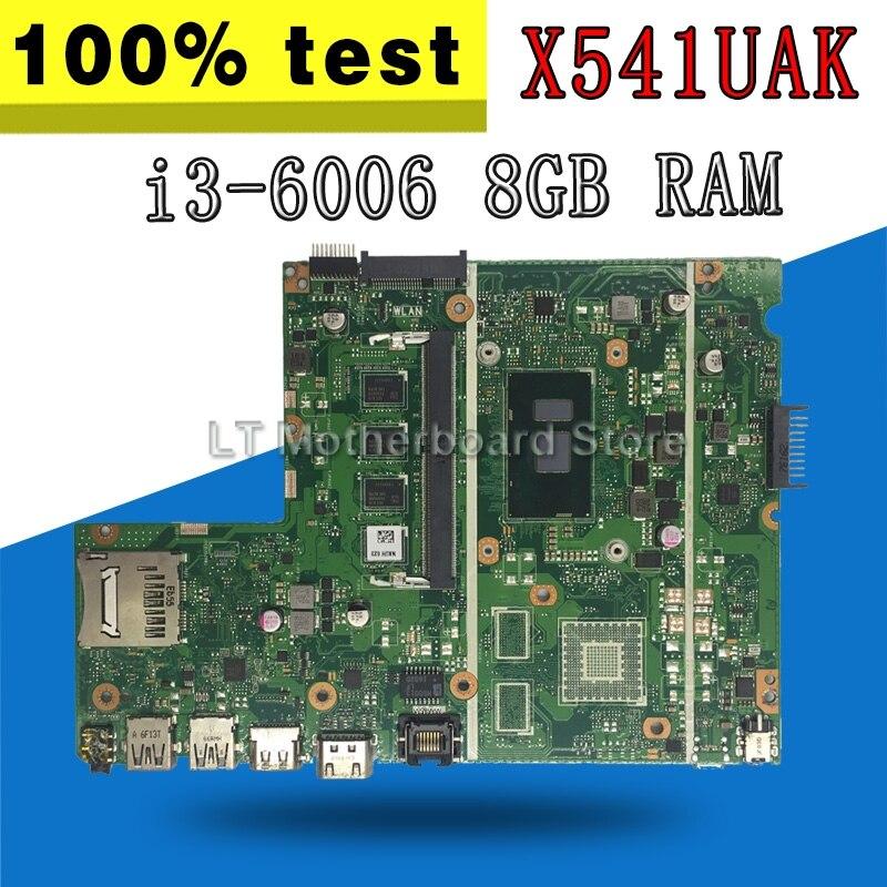 Exchange !!! Laptop motherboard for ASUS X541U X541UVK X541UAK X541UA X541UV X541UJ mainboard i3-6006 CPU 8GB RAM REV2.0