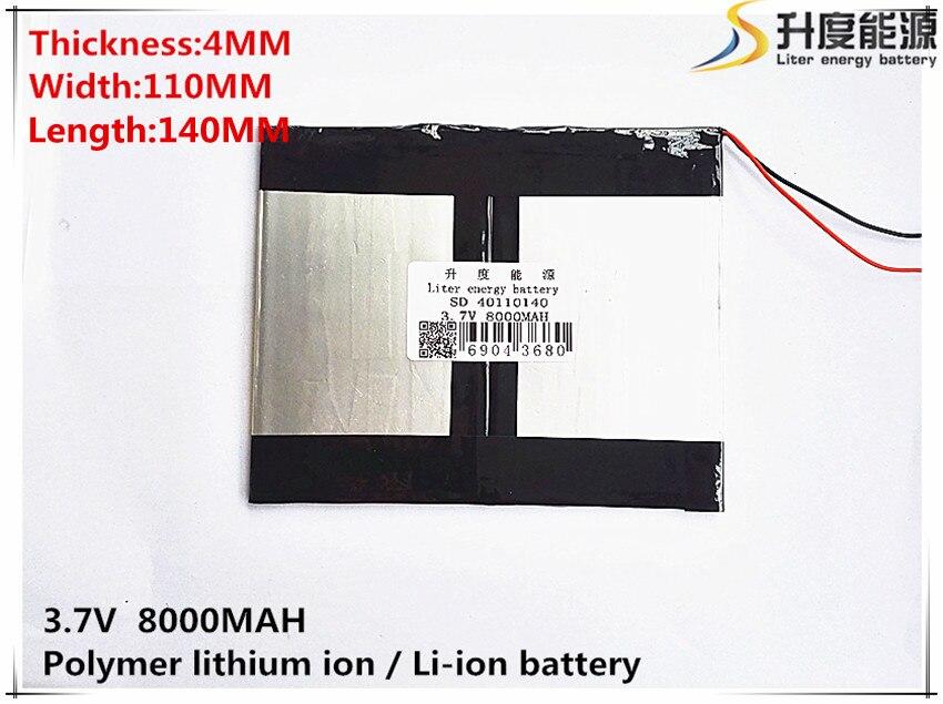1 Uds 3,7 V 8000mAH [40110140] PLIB (polímero de iones de litio/Li-ion batería) para tablet pc Mediados de autonomía, carga de dispositivos, corrección keystone automática, para N10... Ampe A10