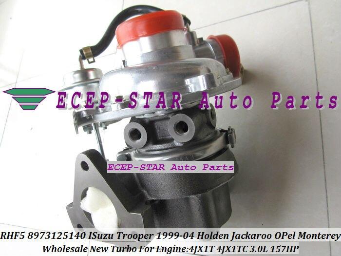 Envío Gratis RHF5 8973125140 videos Turbo turbocompresor para ISUZU Trooper 1999-04 para HOLDEN Jackaroo Monterey 4JX1TC 4JX1 4JX1T 3.0L