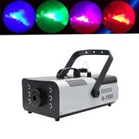 High power 1500W RGB 3in1 6pcs LED Smoke Machine Remote or Wire Control Stage Fog Machine