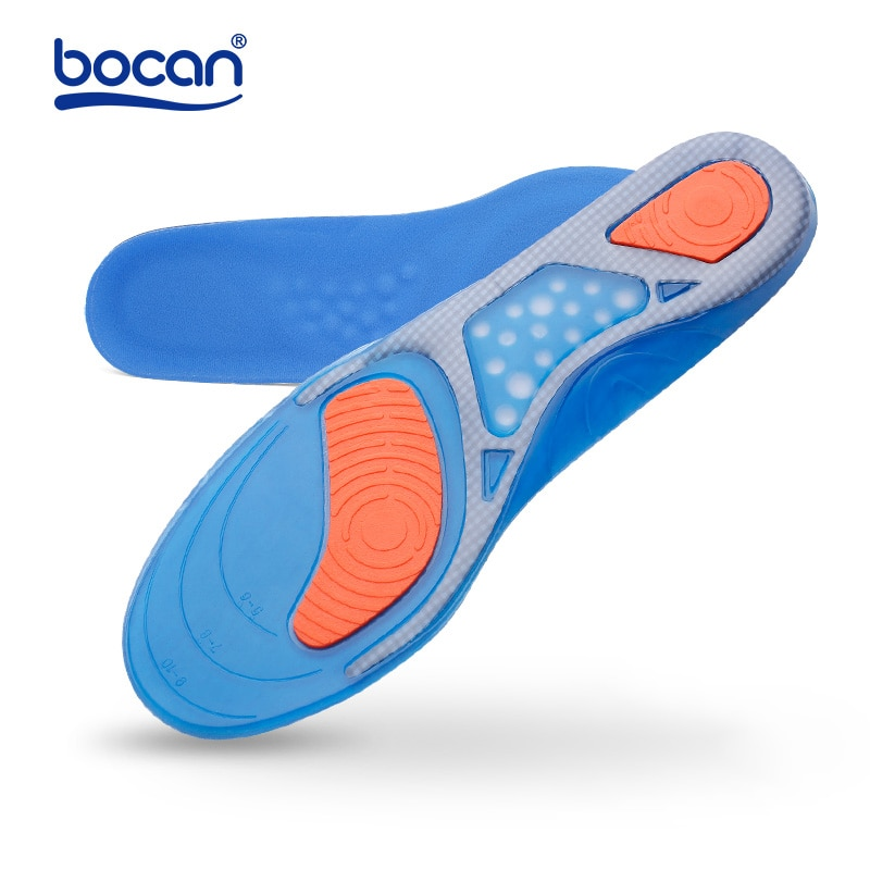 bocan insoles shoes pad sweat absorbing shock absorption breathable comfortable for men and women shoes insoles Bocan Gel insoles 1 pair Top Quality Inserts Comfortable Shoe Insoles shock absorption insole for men and women