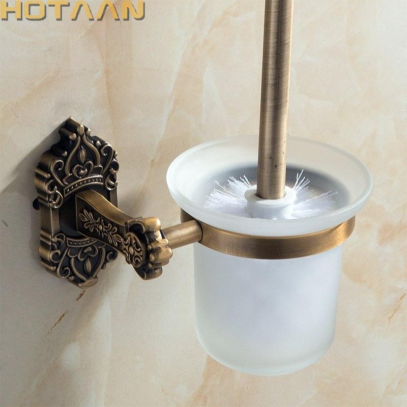 حامل فرشاة المرحاض مصنوع من الألومنيوم الصلب المقاوم للصدأ ، مثبت على الحائط ، لون نحاسي عتيق ، مجموعة ملحقات الحمام ، منتجات الحمام