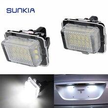 SUNKIA LED para placa de matrícula de reemplazo de luz para Mercedes Benz W204 W212 W221 W231 R172 C250 C300 C350 C63 AMG 2012-20