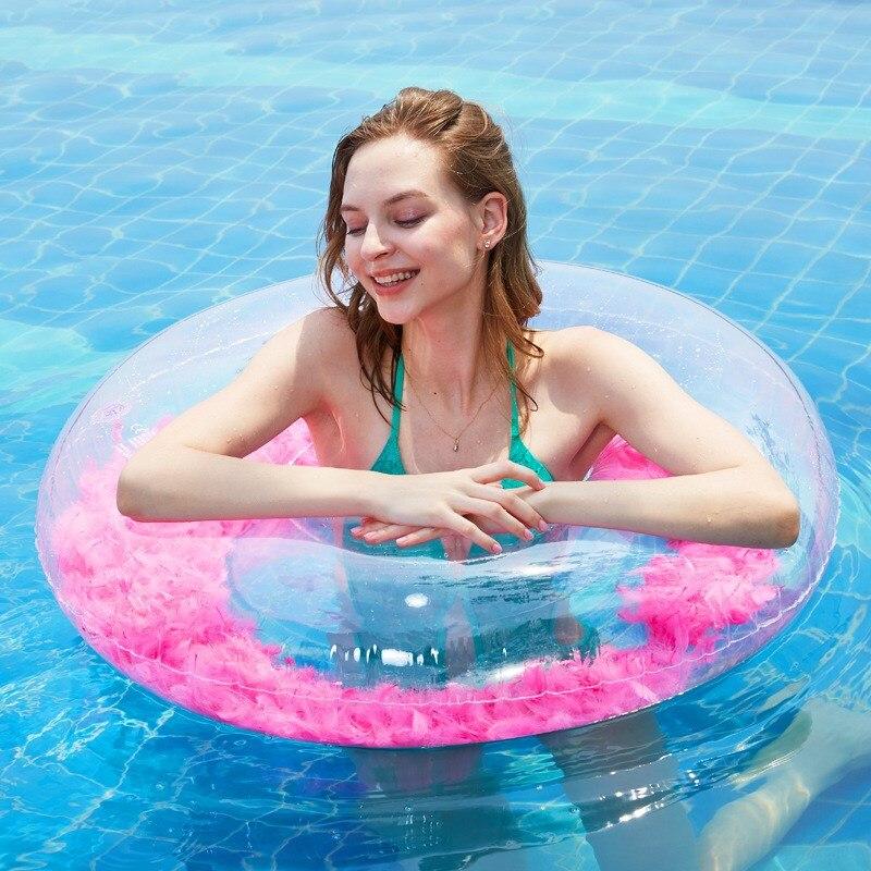 Flotador de cuello de bebé, anillo de natación para recién nacido, bomba de anillo, colchón de dibujos animados, piscina, rueda de natación para niños, accesorios de piscina