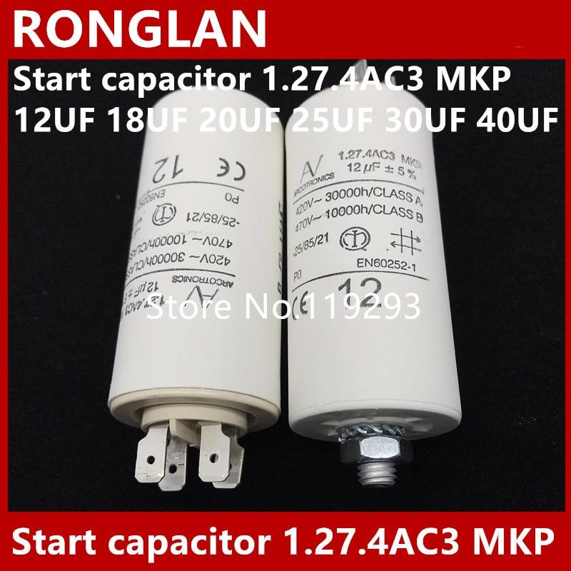 [BELLA] [New Original] ARCOTRONICS Motor inverter start  capacitor 1.27.4AC3 MKP 12UF 18UF 20UF 25UF 30UF 40UF