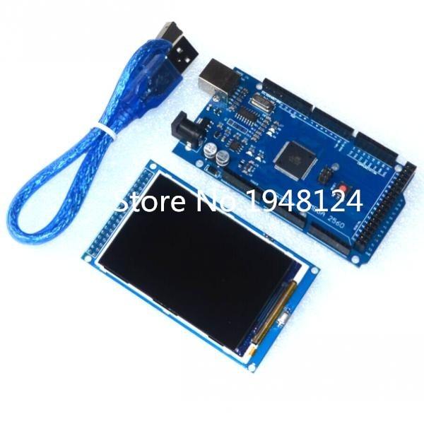 Freies verschiffen! 3,5 inch TFT LCD screen modul Ultra HD 320X480 für Arduino + MEGA 2560 R3 Board mit usb kabel