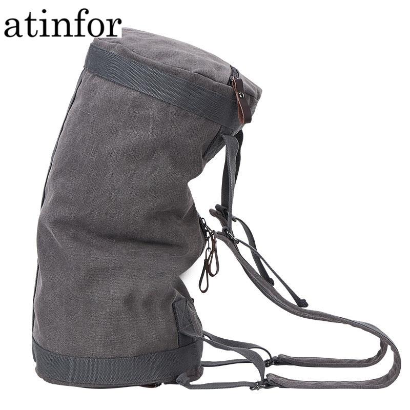 Atinfor multifonction Vintage toile sac de voyage hommes week-end sacs grande capacité sac polochon bagage