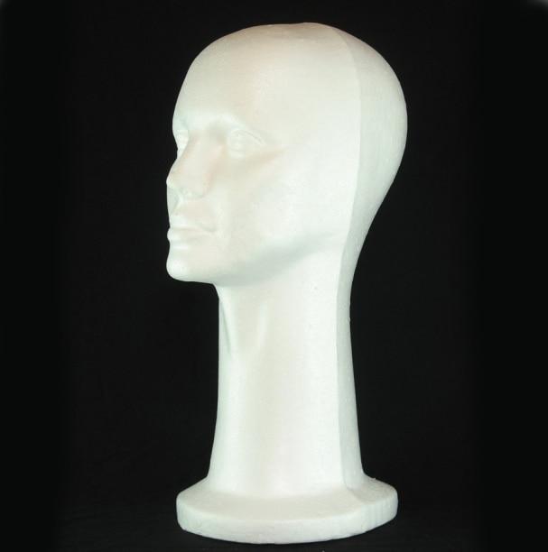 1 Pza 53cm para mujer cabeza de espuma de poliestireno maniquís de pie Peluca de exhibición de gafas de pelo sombrero DIY ropa de costura maniquís de espuma