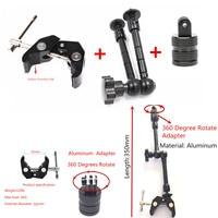 Алюминиевый шарнирный подвес Suptig, волшебное крепление на руку + руль для велосипеда, мотоцикла + 360 адаптер вращения для Gopro Hero 6 5 4/3 3 + SJ4000