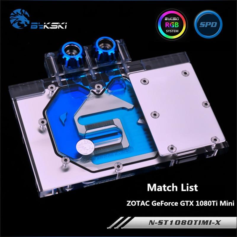 Bykski cobertura completa GPU bloque de agua para ZOTAC GeForce GTX 1080Ti Mini Graphis tarjeta radiador N-ST1080TIMI-X