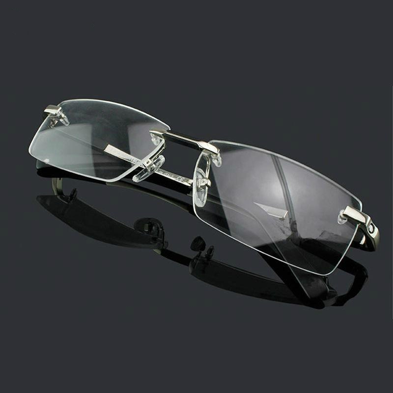 High-grade luxury titanium Business rimless glasses frames Wide big face man Optical myopia reading Armacao de oculos 0349