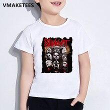Kinder Sommer Kurzarm Mädchen & Jungen T shirt Kinder Schwere Metall Slipknot Rock Band Druck T-shirt Kühlen Baby Kleidung, ooo326