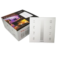 Nieuwe Led Touch Dimmer RF 2.4G Draadloze en DMX512 dimmer controller 4 zone multi functie AC100-240V Walll Mount Led dmx dimmer