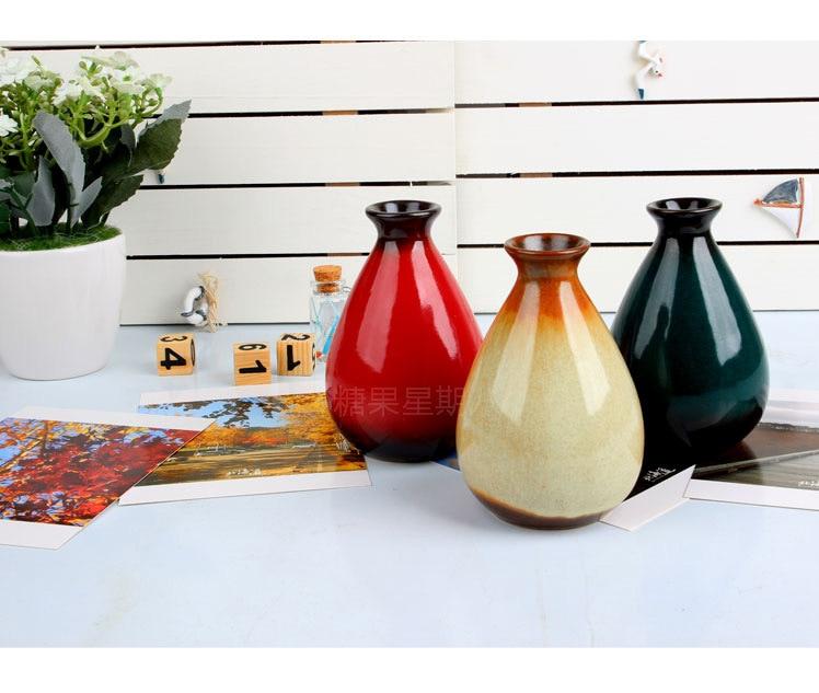 1 ud. Breve florero de cerámica Artificial moderno florero de escritorio de moda flores decorativas jarrones JL 059
