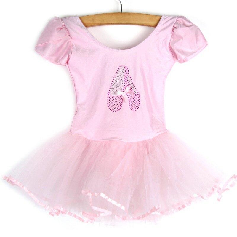 Meninas vestido crianças bebê doce cor tutu vestido trajes de dança ballet dancewear 3-7y