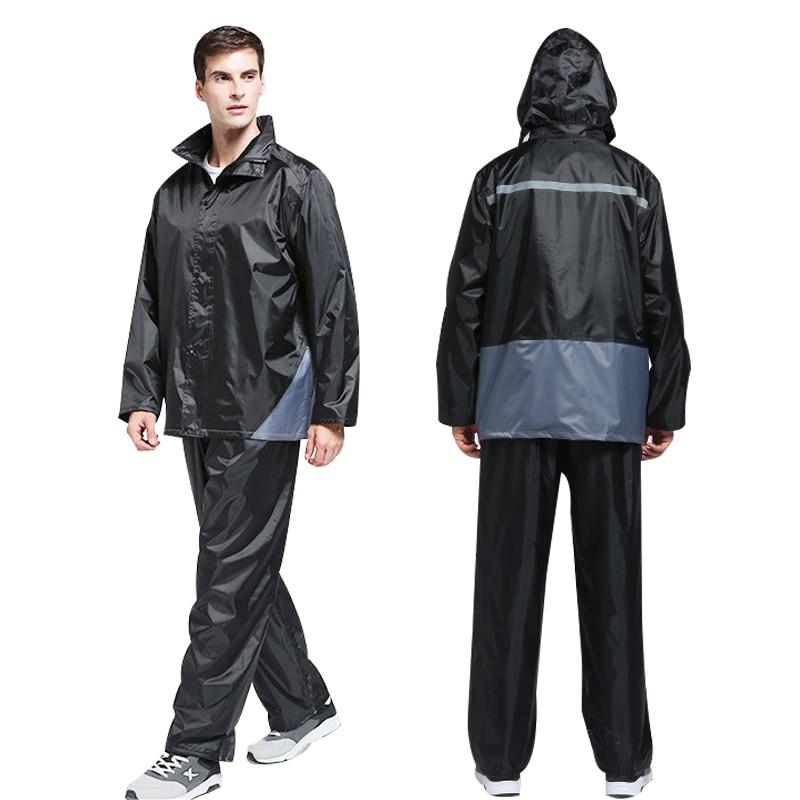 Yuding Impermeable mujer/hombre chaqueta pantalones conjunto adulto lluvia Poncho Universal equipo de lluvia pesca motocicleta Impermeable