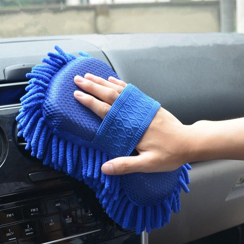 Щетка для чистки автомобиля, многоцветные Чистящие Инструменты из микрофибры, супер чистящие перчатки для мытья окон автомобиля губка для ...