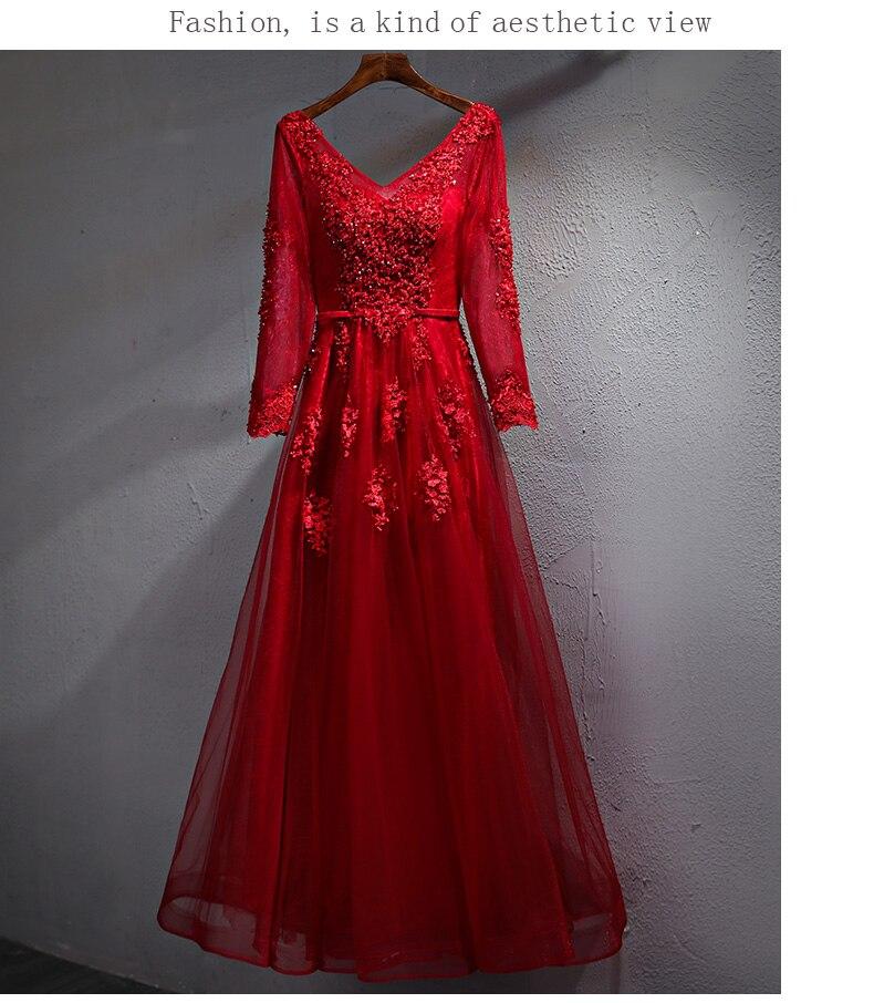 Vestido de novia con cuello en V profundo, apliques de longitud completa,...