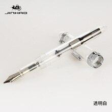 Jinhao 992 mode stylo plume de couleur transparente avec 0.5mm F plume résine encre stylos pour lécriture fournitures scolaires livraison gratuite