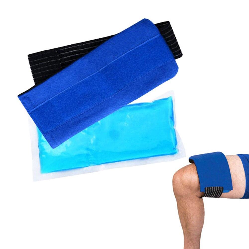 Мягкие легкие эластичные тела многоразовые облегчение боли колени запястье обертывание с гелем горячей и холодной плеча портативный с ремешком набор льда