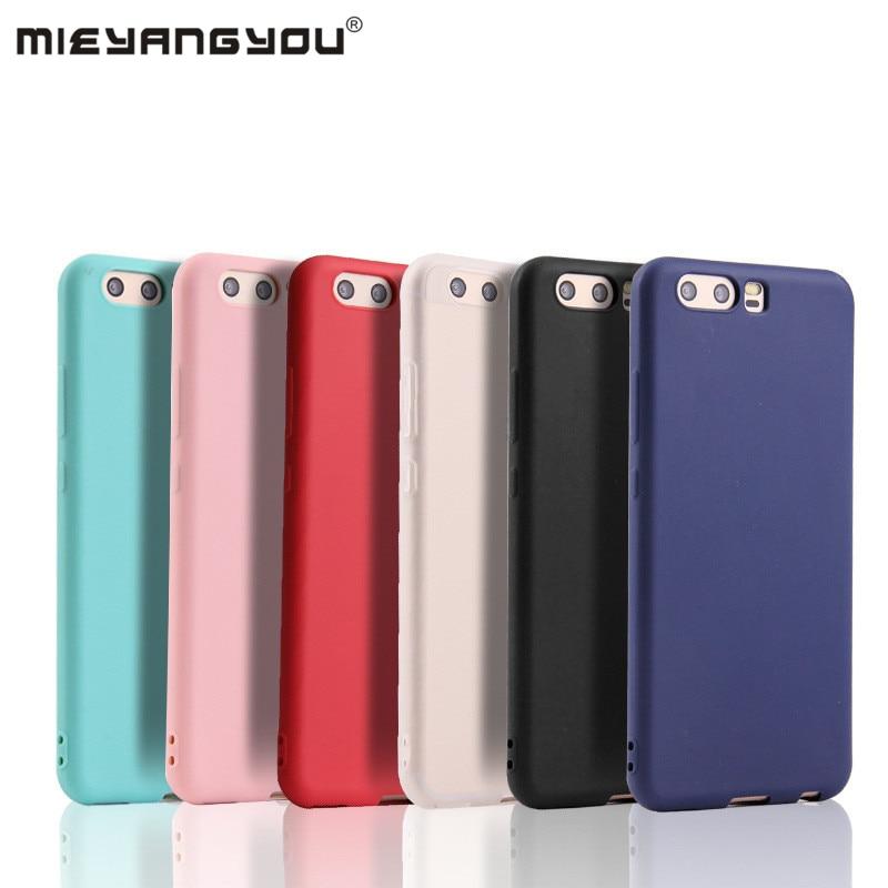 Candy Color Soft Silicone Case For Huawei P8 P9 Lite 2016 2017 P10 Plus P20 Nova 2S 3i P Smart Mate