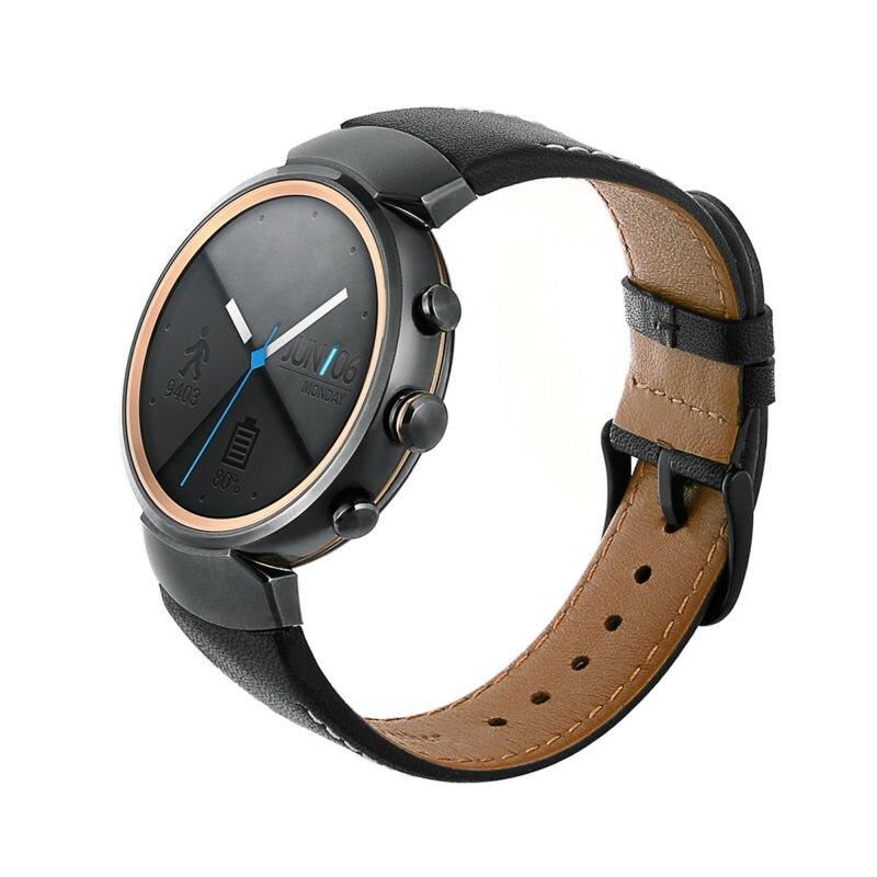 Correa de reloj de cuero genuino para ASUS ZenWatch 3, repuesto de...