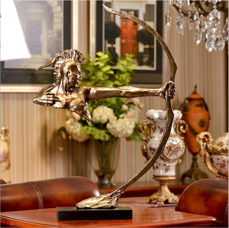 D estilo creativo europeo de la antigua batidora India muebles para el hogar Decoración de resina de alta calidad escultura artesanía Decoración