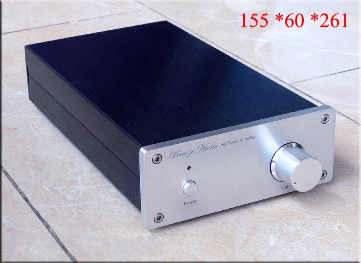 155*60*261 الألومنيوم تنقلها السلطة مكبر للصوت/LM 1875 30W * 2 ايفي النهائي الطاقة مكبر للصوت/Gaincard LM1875 مكبر للصوت