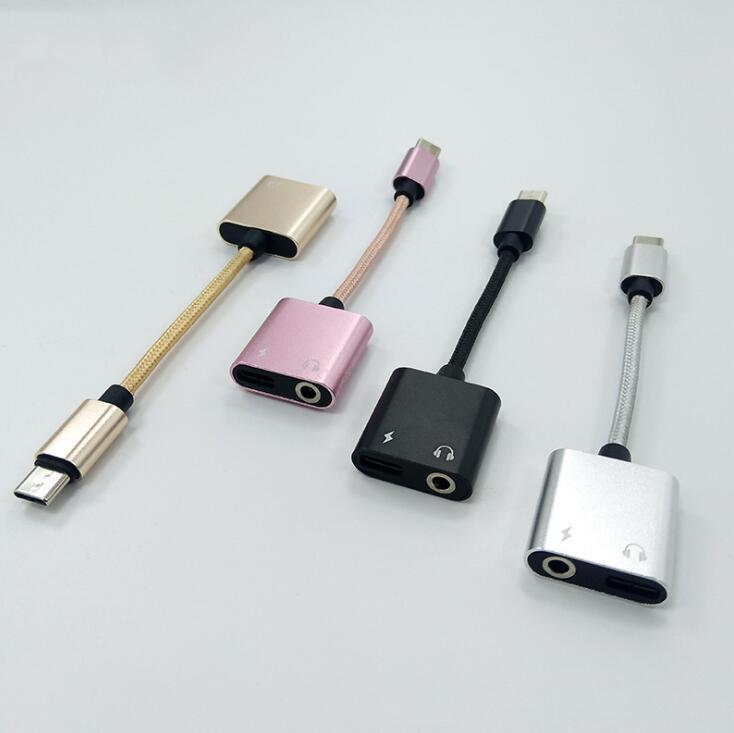 Adaptador USB, USB tipo C Adaptador de Audio Adaptador tipo-C a Jack...