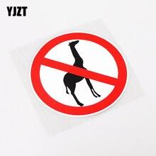 YJZT 12.5CM*12.5CM Reflective Warning Mark Animal Giraffe Car Sticker Decal PVC Accessories 13-0954