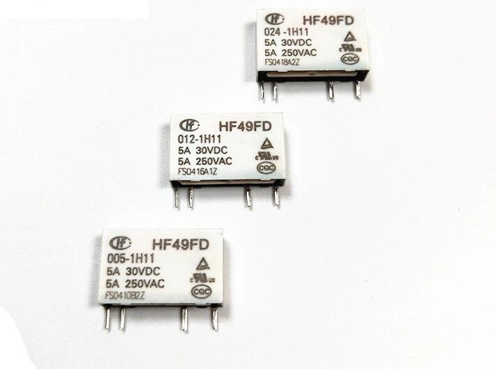 10 unids/lote HF49FD-005-1H11 HF49FD-012-1H11 HF49FD-024-1H11