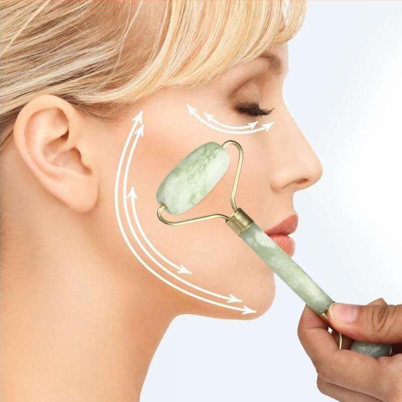 Natural Face Massager Jade Roller Derma Rollers Facial Beauty Massage Tool Jade Roller Face Thin massager Relaxation Tools
