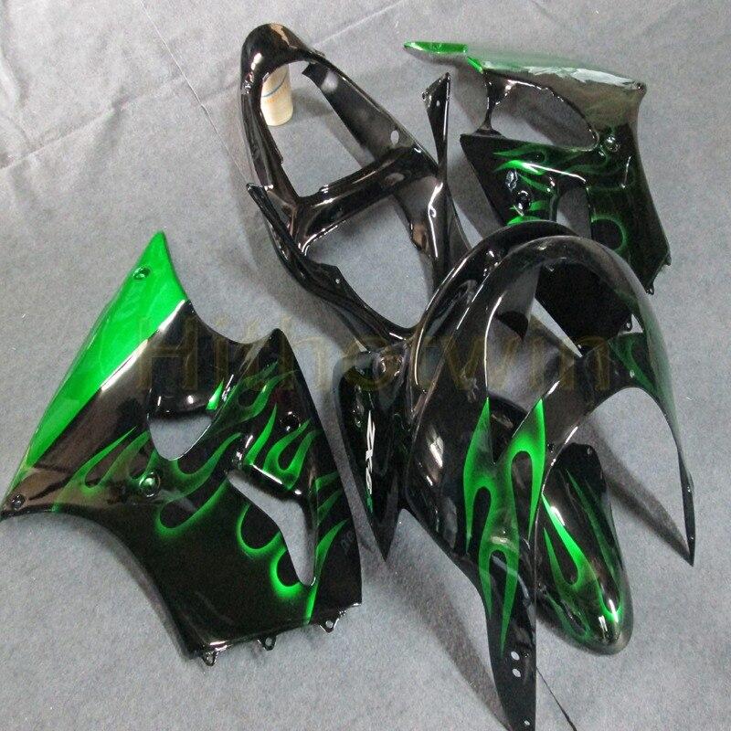 Carénage de moto ABS pour Kawasaki ZX6R 636 1998 1999 panneaux de moto ZX-6R ensemble de carrosserie en plastique ABS kits de carénage complets