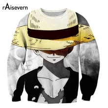 Anime Volle Druck 3D Sweatshirt Einem Stück Hoodies 3D Drucken Pullover Hoody Affe D Luffy Outfit Casual Oberbekleidung Drop Shipping