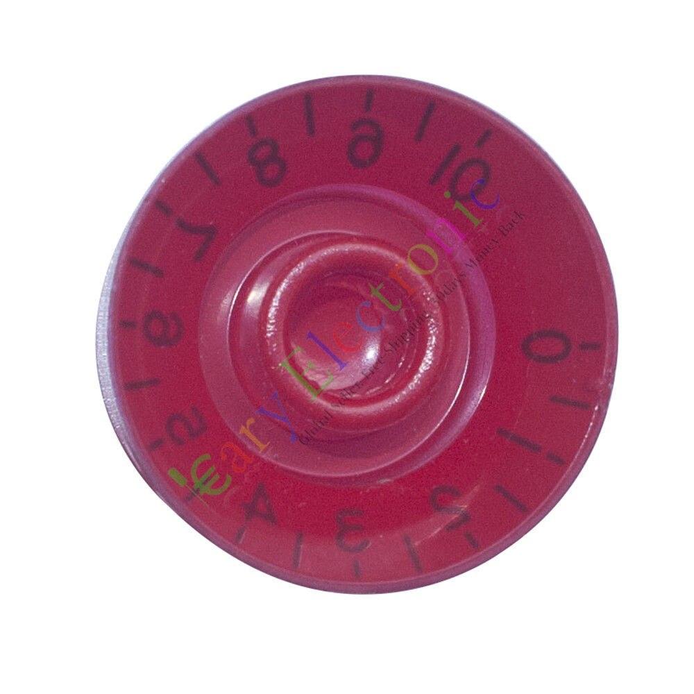 Venta al por mayor y al por menor 100pc 25mm Pedal superior zócalo rojo perilla guitarra amplificador de tubo volumen tono audio radio DIY envío gratis