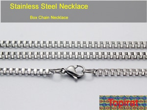30pcs Stainless Steel Box Chain Necklace DIY Jewelry Findings Making Men Women Gifts 1.5mm 2mm 3mm 16 inch-30 inch