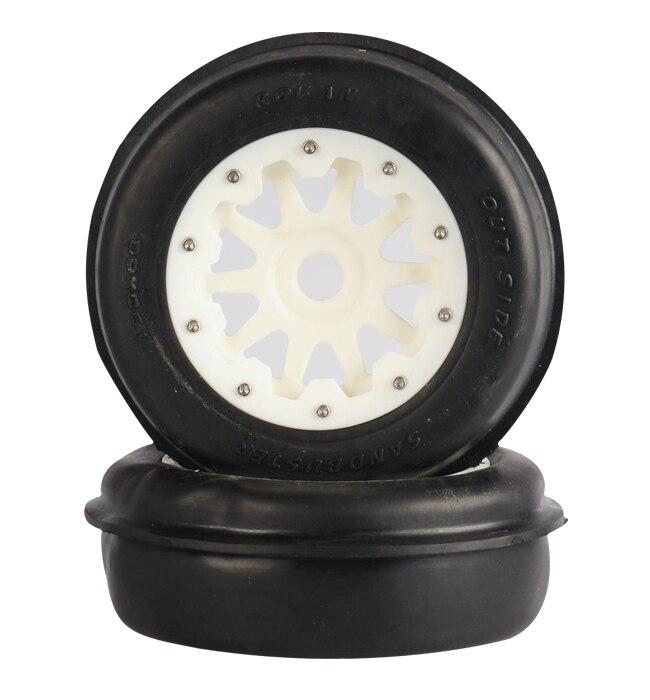 baja 5T/5SC front sand tyres set with nylon hub 95172